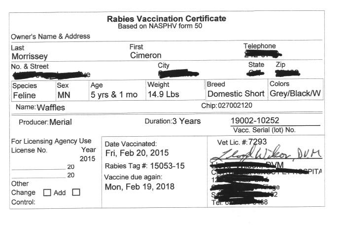 rabies-certificate